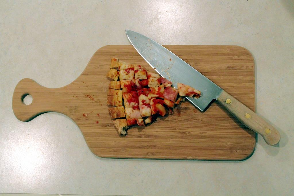 Bite Sized Pizza Slice