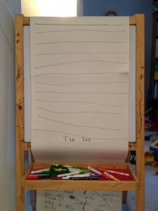 Paper Scroll on Easel with &quot;The End&quot; at bottom
