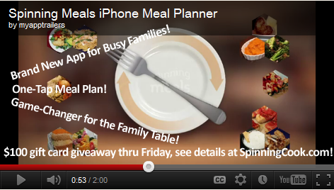 Spinning Meals App Trailer Screenshot