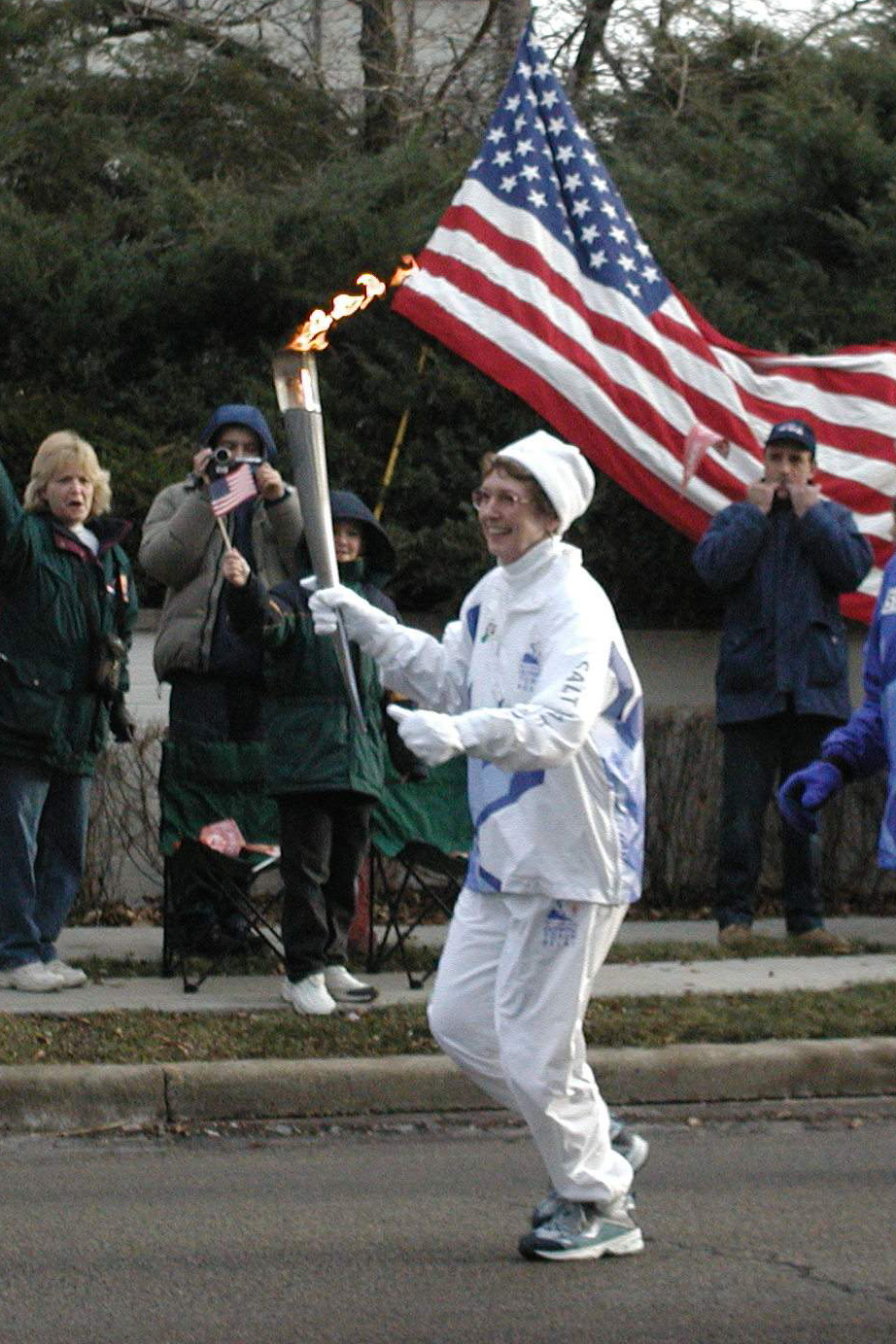 Mom Carrying The Torch