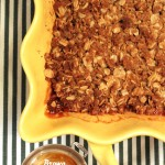 Brown Butter Apple Crisp Overhead Photo