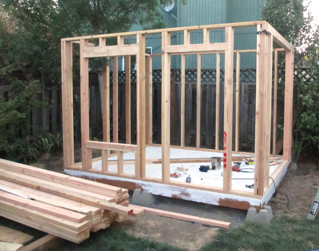 Epic Backyard Playhouse First Story Framing
