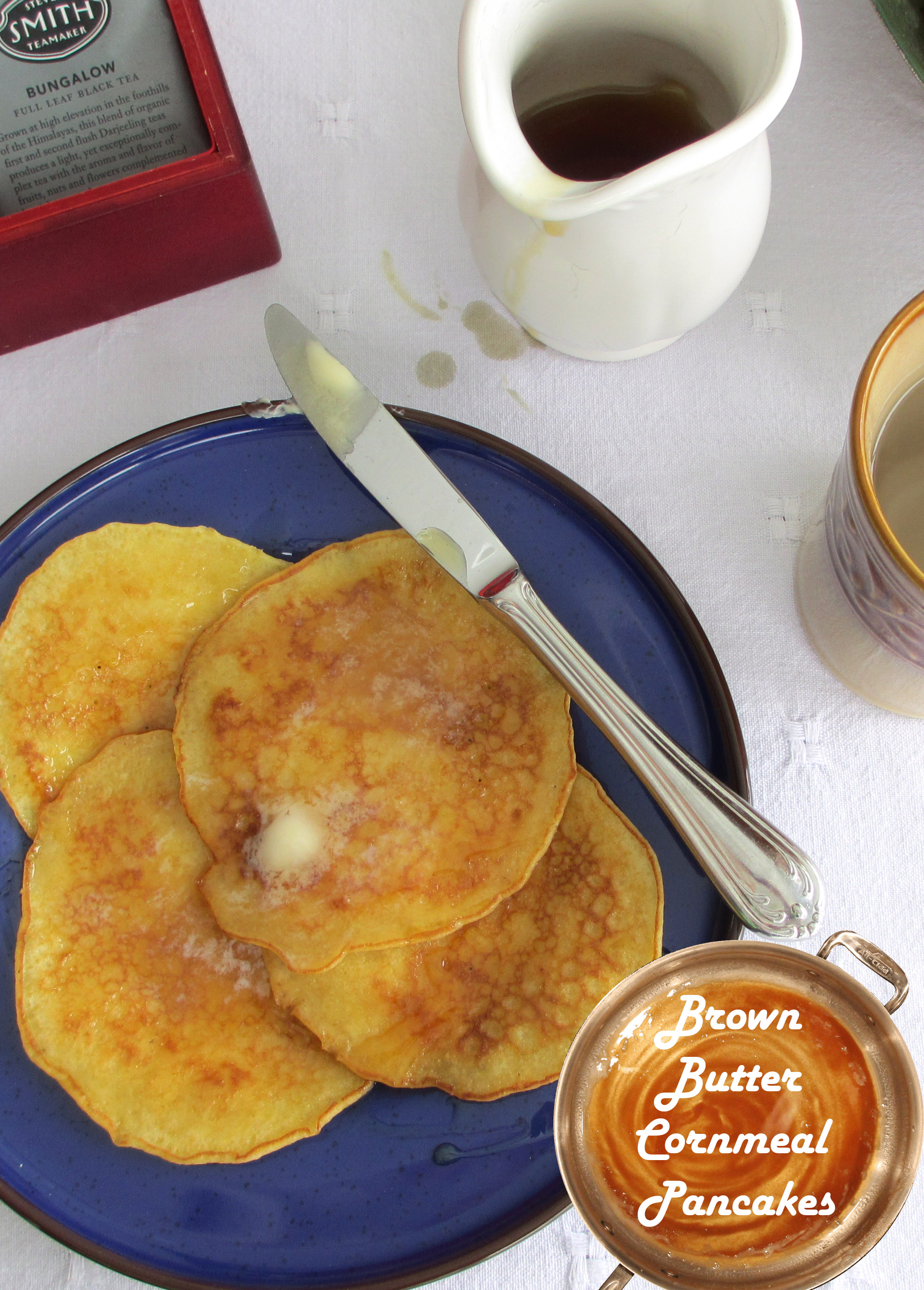 Brown Butter Cornmeal Pancakes
